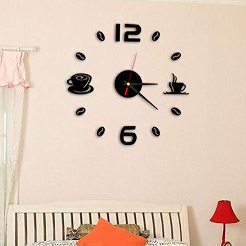(Watch Fashion Acrylic DIY Self Adhesive Interior Wall Creative Home Decoration Clock Home Garden Kitchen Accessories Watches Alarm Electronic)