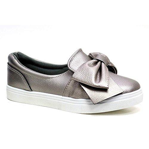 On Sneakers Bow Ginnastica Slip Womens Scarpe Casual Flat New Da Comfy q7tSHx0Ww