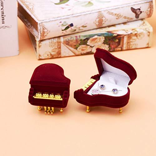- FidgetKute New Piano Ring Box Earring Pendant Jewelry Treasure Gift Case Wedding