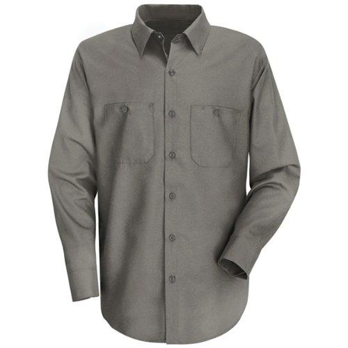 Red Kap Men's Wrinkle Resistant Long Sleeve WorkShirt, Graphite Grey, Medium (Cotton Shirts Work)