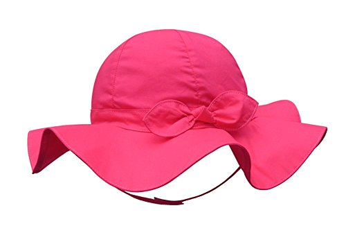 Girls Sun Hat Cap - SNW Kid Baby Summer Hat Baby Sun Hat Hip Hop Hat Baseball Cap Baby Cap (18.1 in/6-12 months, Rose)
