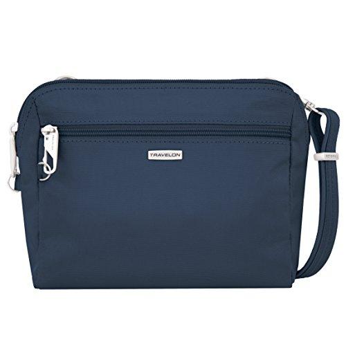 Travelon Women's Classic Convertible Crossbody & Waist Pack Cross Body Bag, Midnight, One Size