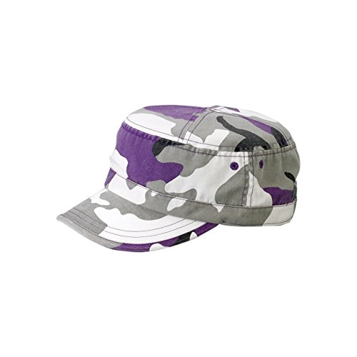 MG Unisex Enzyme Washed Camouflage Cap-9028-LILAC CAMO (Cap Washed Camo)