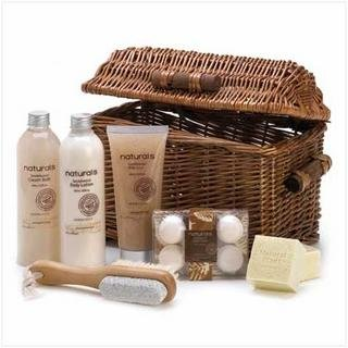 Koehler Home Decor Sandalwood Naturals Spa Basket (Home Decor Gift Basket)