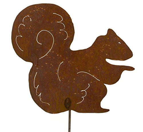 Squirrel Rusty Metal Garden Stake