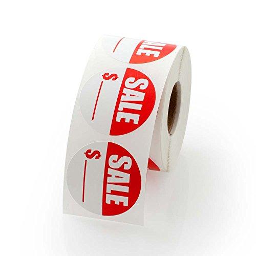 "Sale Price Round Label 1.5"" - 500 Labels Per Roll"