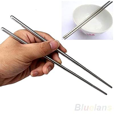 Chopsticks - 2 Types Chinese Style Thread Stylish Non Slip Design Stainless Steel Chop Sticks Chopsticks - Sticks Stainless Chop Steel Chopsticks Toothbrush Wooden Environment Friendly Chop