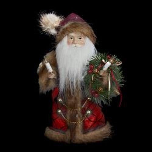 Kurt Adler 10-Light Burgundy and Brown Santa Treetop, 10-Inch by Kurt Adler