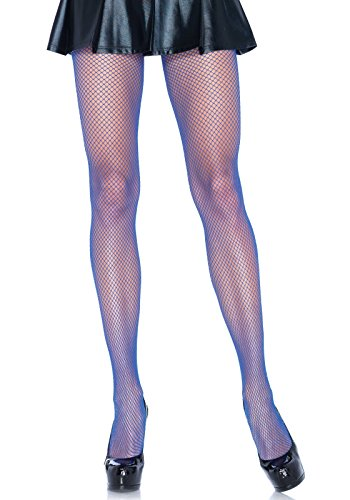 Leg Avenue Women's Fishnet Pantyhose, Neon Purple, One Size