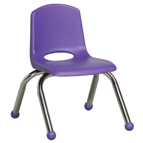 Beau Amazon.com: School Stack Kids Chairs W Chrome Legs In Purple   Set Of 6 (10  In.): Kitchen U0026 Dining