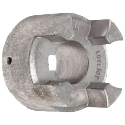 Lovejoy 76351 Size CJ 19A Curved Jaw Coupling Hub, Powdered Metal Steel, Inch, 0.25'' Bore, 1.57'' OD, 2.6'' Overall Coupling Length, No Keyway - 0.25' Metal