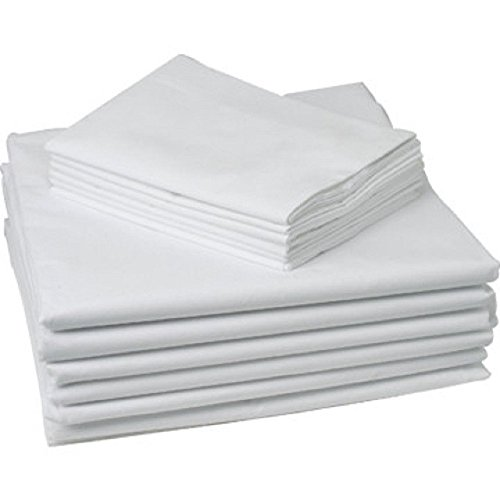 GHP Set of 60 20''x32'' White Standard Size Hotel Pillow Cases Covers