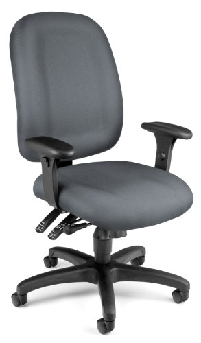 Multi Tilt Ergonomic Chair (OFM Ergonomic Upholstered Multi-Adjustable ComfySeat Task Chair with Arms, Gray)