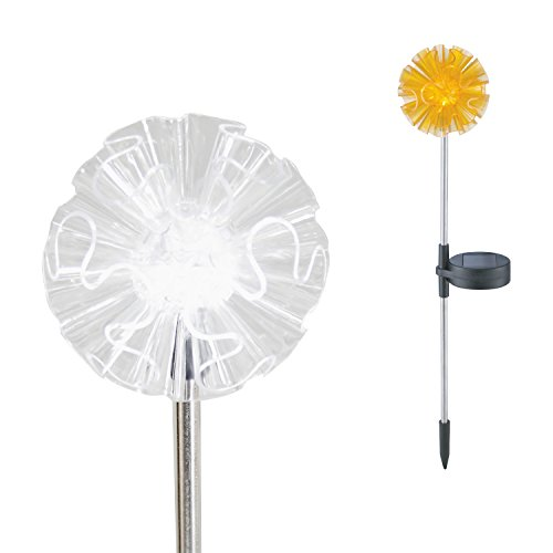 Candle Choice Color Changing Solar Garden Stake Light with Vivid Figurine – Dandelion, LED Garden Light, Landscape Light, In-ground light Outdoor Light for Garden Decoration and Flower Beds