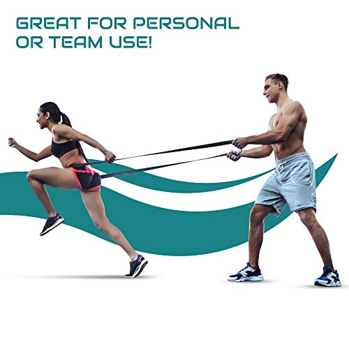 Victorem Ultimate Speed Agility Training Set – Speed Bands, Parachute, Overspeed Bungee, Running Ladder– Physical Fitness Workout Set – Muscle Endurance - Football, Basketball, Soccer, Track and Field by Victorem (Image #4)