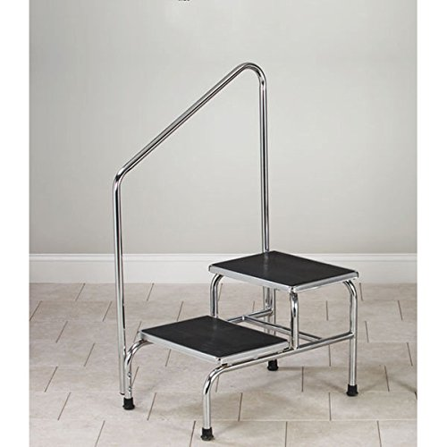 Bariatric 2-Step Step Stool With Handrail