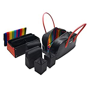 MaD BaG Fashionable Luxury Tote Bag, Black/Red