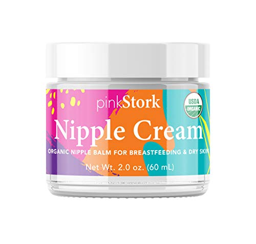 Read About Pink Stork Nipple Cream: USDA Organic, Heals Cracks + Pains, Women-Owned, 2 oz
