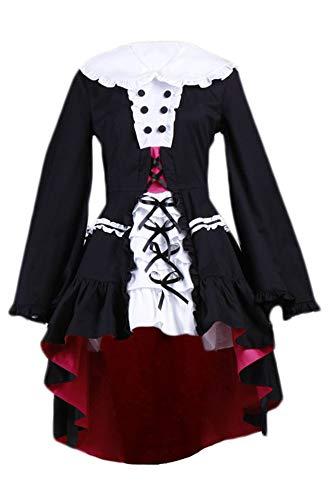 Chong Seng CHIUS Cosplay Costume Dress Set for Nagato Yuki Lolita Gothic Version 2