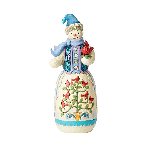 Enesco Jim Shore Heartwood Creek Snowman with Cardinal Statue, 20 Inches - 20 Snowman