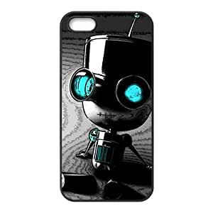 Cute Seated robot Cell Phone Case for Iphone 5s