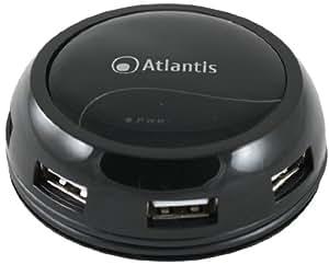Atlantis Land P014-GH902-B centro o nodo - Concentrador (480 Mbit/s, USB 2.0 /USB 1.1, USB) Negro