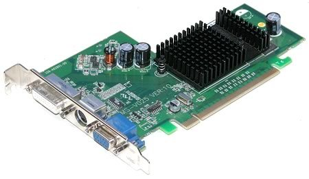 - ATI Radeon X300 SE 128MB DVI VGA TV-Out PCI-E Video Card Dell Y8365