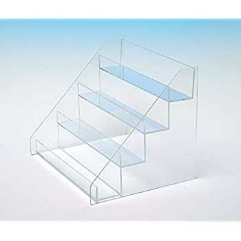 Countertop Stair Display | Retail Box Stand | Acrylic Four Step Stairs |  Card Display |