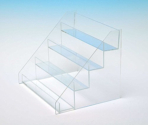 Countertop Stair Display | Retail Box Stand | Acrylic Four Step Stairs | Card Display | STL55