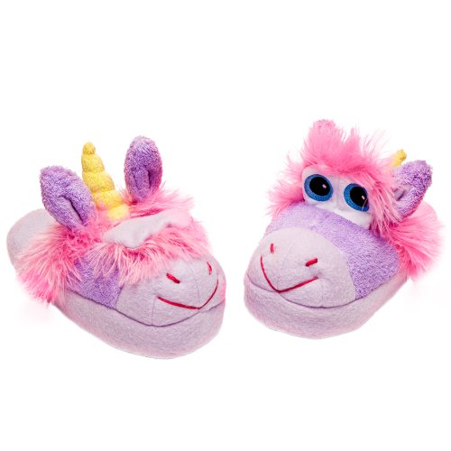 Stompeez Children's Unusual Unicorn Slipper Purple - Small (Shoe Size: 9 - 11)