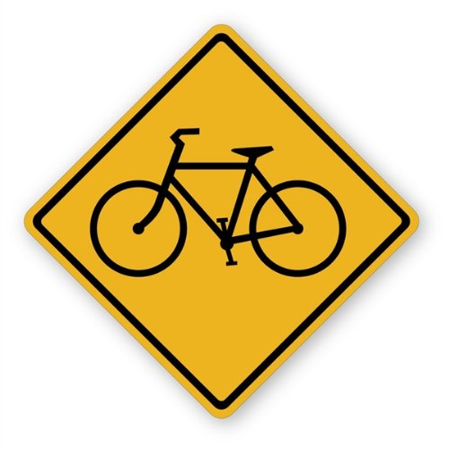 Walls 360 Peel & Stick Traffic and Street Sign Wall Decals: Bicycle Sign (12 in x 12 in)