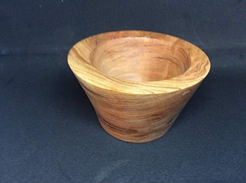 Display a beautiful handmade wooden bowl