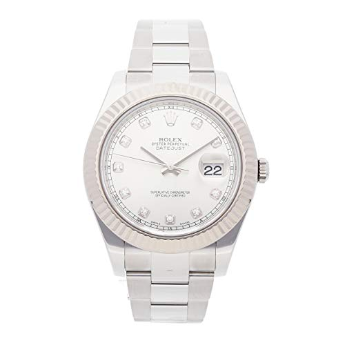 Scattered Diamond Watch - Rolex Datejust II Mechanical (Automatic) Silver Dial Mens Watch 116334 (Certified Pre-Owned)