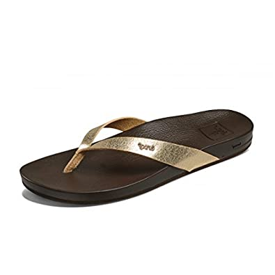4749f49161b5 Reef Cushion Bounce Court Champagne Gold Dark Brown Comfort Flip Flops   Amazon.co.uk  Shoes   Bags