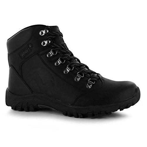 Hommes Cuir Anneaux Marche Chaussures Air De Bottes Noir D Full Lace Plein Mtal Gelert En Up dq8gaTdx