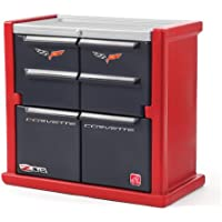 Step2 Corvette Dresser for Kids - Durable 4 Drawer Cabinet Organizer, Red/Black/Silver