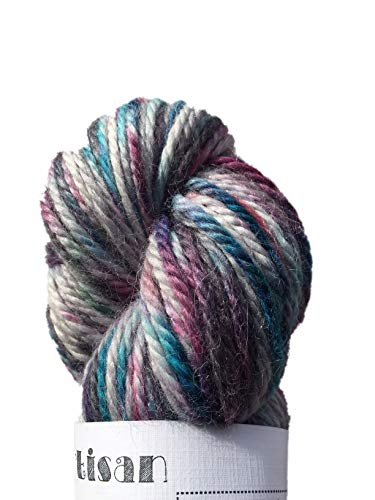 Hand Dyed Baby Alpaca Yarn, Hand Painted: Cherry Blossoms, Heavy Worsted Weight, 100 Grams, 102 Yards, 100% Baby Alpaca