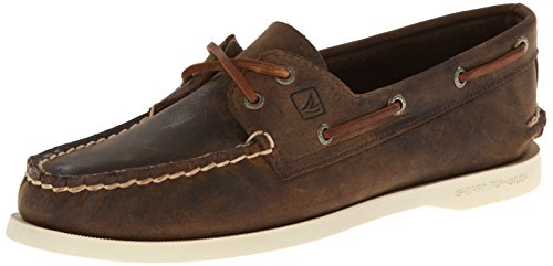 Hand Sewn Boat - Sperry Top-Sider Women's Authentic Original Boat Shoe, Brown Distressed, 6 M US