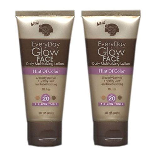 - Banana Boat Everyday Glow Face Daily Moisturizing Lotion, Hint of Color, All Skin Tones, S (Pack of 2)