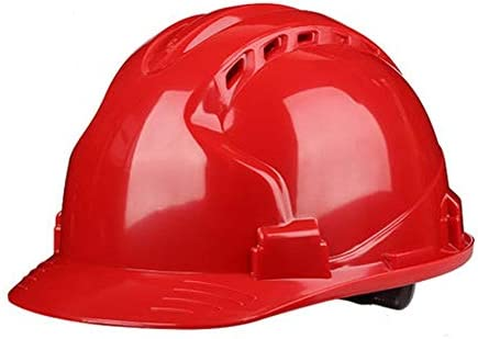 Rui Peng 安全性 ハード帽子 - 工学換気ヘルメット安全保護力建設作業員インパクトヘルメット - 頭部保護具,建設安全ヘルメット (Color : Red)