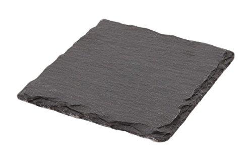 Genware NEV-SLTN-1010 Natural Edge Slate Platter 10 cm x 10 cm