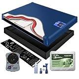 95% Waveless Waterbed Mattress Better Bundle - Queen Includes Liner, Mattress Pad, Heater & Fill & Drain Kit