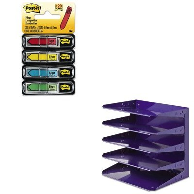Horizontal Message Flag (KITMMF26425L008MMM684SH - Value Kit - MMF Soho Horizontal Organizer (MMF26425L008) and Post-it Arrow Message 1/2amp;quot; Flags (MMM684SH))