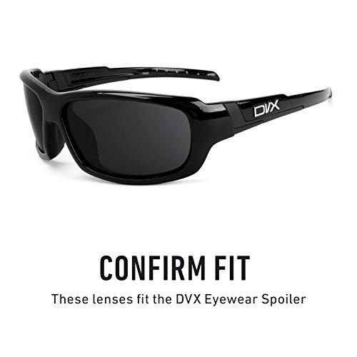 Verres de rechange pour DVX Eyewear Spoiler — Plusieurs options Polarisés Elite Flash Bronze MirrorShield®