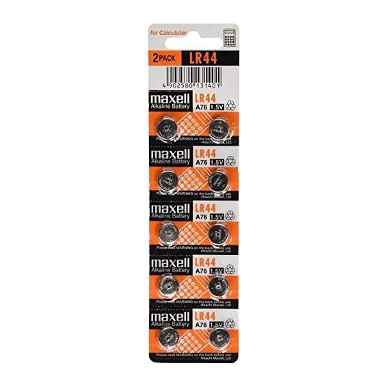 MILAN TRADING Maxell Alkaline Button Coin Cell Battery -Set of 10 Pieces