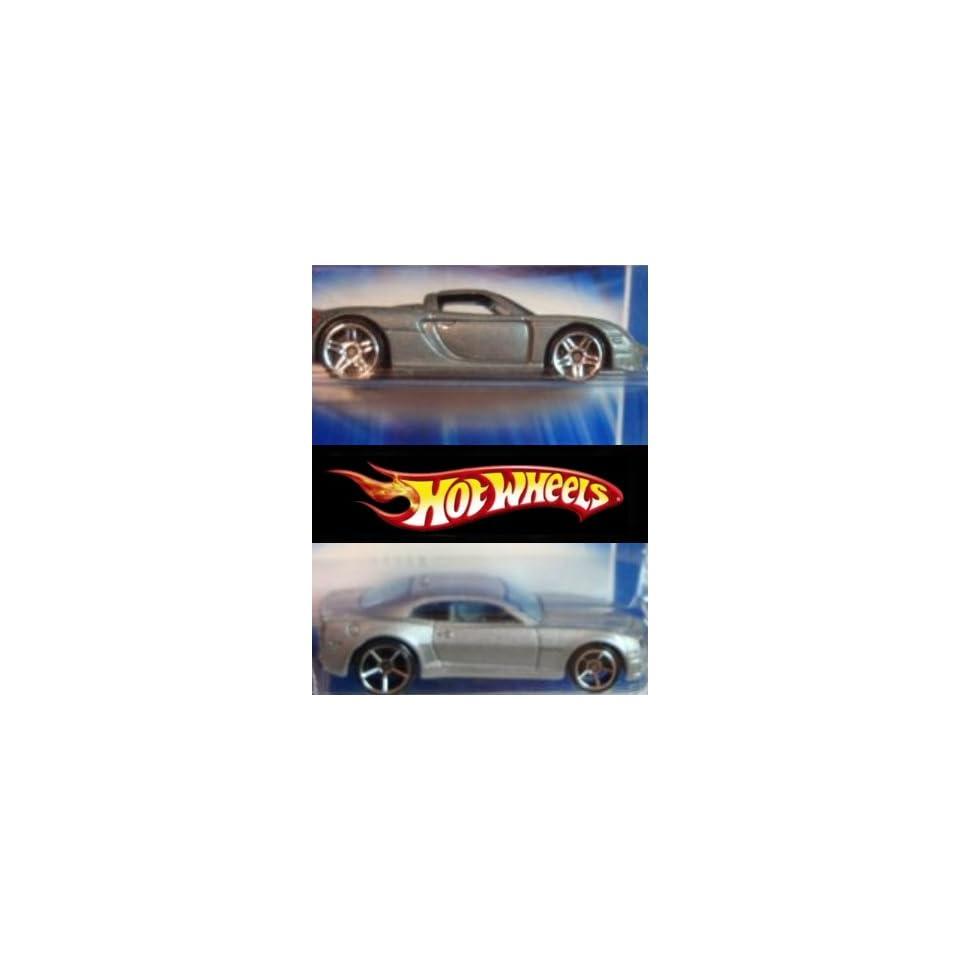 Hot Wheels Porsche Carrera Gray Pr5   10 Chevy Camaro Silver FTE Scale 164