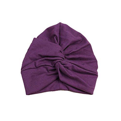 Mwfus Boho Baby Girls Kids Cotton Twist Turban Bandana Hat Head Wrap Indian Cap