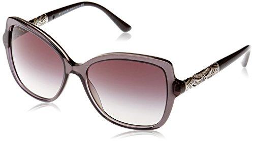 Bvlgari Women's BV8174B Sunglasses Transparent Striped Grey/Grey Gradient 56mm