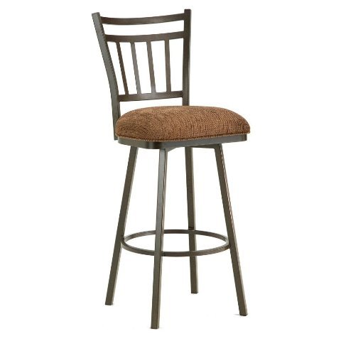Iron Mountain Emma Swivel Counter Stool with 26-Inch Seat Height, Rust