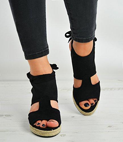 Cucu Fashion - Sandalias de vestir para mujer negro negro negro